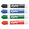 EXPO Low Odor Dry Erase Marker, Chisel Tip, Basic Assorted, 4/Set