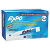 EXPO Dry Erase Markers, Chisel Tip, Blue, Dozen