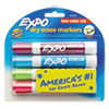 EXPO Low Odor Dry Erase Marker, Chisel Tip, Classic Colors Assorted, 4 per Set