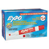 EXPO Low Odor Dry Erase Marker, Chisel Tip, Red, Dozen