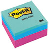 Post-it Notes Original Cubes, 3 x 3, Pink Wave, 400/Pad
