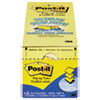 Post-it Pop-up Notes Original Canary Yellow Pop-Up Refill Cabinet Pack, 3 x 3, 90/Pad, 18 Pads/Pack