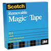 "Scotch Removable Tape, 3/4"" x 1296"", 1"" Core"