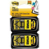 "Post-it Flags Arrow Message 1"" Page Flags, ""Notarize,"" Yellow, 2 50-Flag Dispensers/Pack"