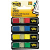 Post-it Flags Small Page Flags in Dispensers, Four Colors, 35/Color, 4 Dispensers/Pack