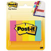 Post-it Page Flag Markers, Assorted Brights, 100 Strips/Pad, 5 Pads/Pack