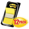 Post-it Flags Marking Page Flags in Dispensers, Yellow, 12 50-Flag Dispensers/Box