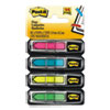 "Post-it Flags Arrow 1/2"" Page Flags, Four Assorted Bright Colors, 24/Color, 96-Flags/Pack"