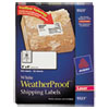 Avery White Weatherproof Laser Shipping Labels, 2 x 4, 500/Pack