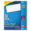 Avery Easy Peel Laser Address Labels, 1/2 x 1-3/4, White, 8000/Box