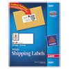 Avery Shipping Labels w/Ultrahold Ad & TrueBlock, Laser, 2 x 4, White, 250/Pack