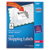 Avery Shipping Labels w/Ultrahold Ad & TrueBlock, Laser, 3 1/2 x 5, White, 400/Box