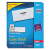 Avery Easy Peel Laser Address Labels, 1 1/3 x 4, White, 3500/Box