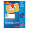 Avery Shipping Labels with TrueBlock Technology, 2 x 4, White, 2500/Box