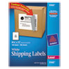Avery Shipping Labels w/Ultrahold Ad & TrueBlock, Laser, 8 1/2 x 11, White, 100/Box