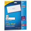 Avery Easy Peel Laser Address Labels, 1 x 4, White, 500/Pack