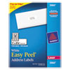 Avery Easy Peel Laser Address Labels, 1 x 2 5/8, White, 7500/Box