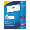 Avery Easy Peel Laser Address Labels, 1 1/3 x 4, White, 350/Pack