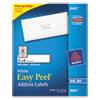 Avery Easy Peel Inkjet Address Labels, 1 x 4, White, 2000/Box