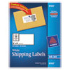 Avery Shipping Labels w/Ultrahold Ad & TrueBlock, Inkjet, 2 x 4, White, 250/Pack