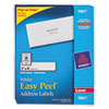 Avery Easy Peel Laser Address Labels, 1 x 4, White, 5000/Box