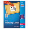 Avery Shipping Labels w/Ultrahold Ad & TrueBlock, Laser, 3 1/3 x 4, White, 600/Box