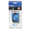 Brother P-Touch TC Tape Cartridge for P-Touch Labelers, 3/8w, White on Red