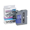 Brother P-Touch TX Tape Cartridge for PT-8000, PT-PC, PT-30/35, 3/4w, Black on Clear