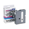 Brother P-Touch TX Tape Cartridge for PT-8000, PT-PC, PT-30/35, 1w, White on Clear