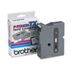 Brother P-Touch TX Tape Cartridge for PT-8000, PT-PC, PT-30/35, 1w, Black on White