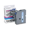 Brother P-Touch TX Tape Cartridge for PT-8000, PT-PC, PT-30/35, 1w, Blue on White