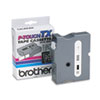 Brother P-Touch TX Tape Cartridge for PT-8000, PT-PC, PT-30/35, 1w, White on Black