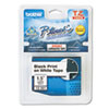 Brother P-Touch TZe Standard Adhesive Laminated Labeling Tape, 1-1/2w, Black on White