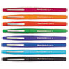 Paper Mate Point Guard Flair Porous Point Stick Pen, Assorted Ink, Medium, 8 per Set