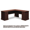 "72""W x 72""D L-Desk (B/D, F/F) Box 2 of 2 Syndicate Mocha Cherry"