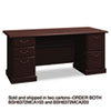 "72""W Double Ped Desk (B/B/F, F/F) Box 1 of 2 Syndicate Mocha Cherry"