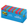 Post-it Notes Original Pads in Jaipur Colors Cabinet Pack, 3 x 3, 100 Sheets/Pad, 18/Pack