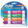 EXPO Low Odor Dry Erase Marker, Chisel Tip, Assorted, 4 per Set
