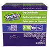 Swiffer Dry Refill System, Cloth, White, 32/Box, 6 Boxes/Carton