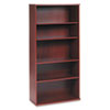 "36""W 5-Shelf Bookcase Series C Mahogany"