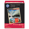 HP Premium Choice LaserJet Paper, 98 Brightness, 32lb, 8-1/2x11, White, 500 Shts/Rm