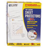 C-Line Standard Weight Polypropylene Sheet Protector, Clear, 2