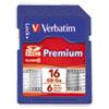 Verbatim Premium SDHC Memory Card, Class 10, 16GB