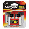 Energizer MAX Alkaline Batteries, C, 4 Batteries/Pack
