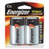 Energizer MAX Alkaline Batteries, D, 2 Batteries/Pack