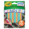 Crayola Washable Sidewalk Chalk 4 Colors in 1, Assorted, 5 Sticks/Pack
