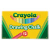 Crayola Colored Drawing Chalk, 12 Assorted Colors 12 Sticks/Set