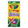Crayola Erasable Colored Woodcase Pencils, 3.3 mm, 24 Assorted Colors/Box