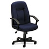 basyx VL601 Series Executive High-Back Swivel/Tilt Chair, Navy Fabric/Black Frame