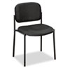 VL606 Stacking Armless Guest Chair, Black